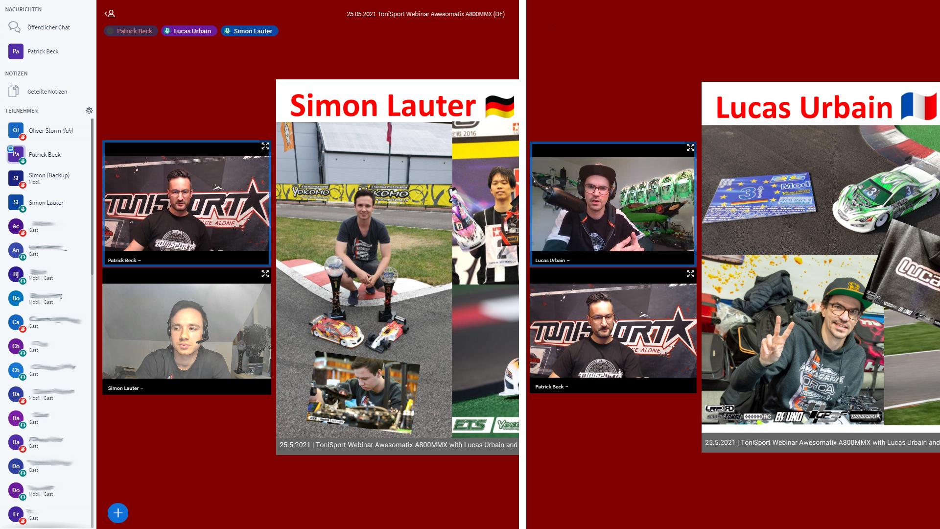Zusammenfassung ToniSport Webinar: Der Awesomatix A800MMX – mit Lucas Urbain und Simon Lauter