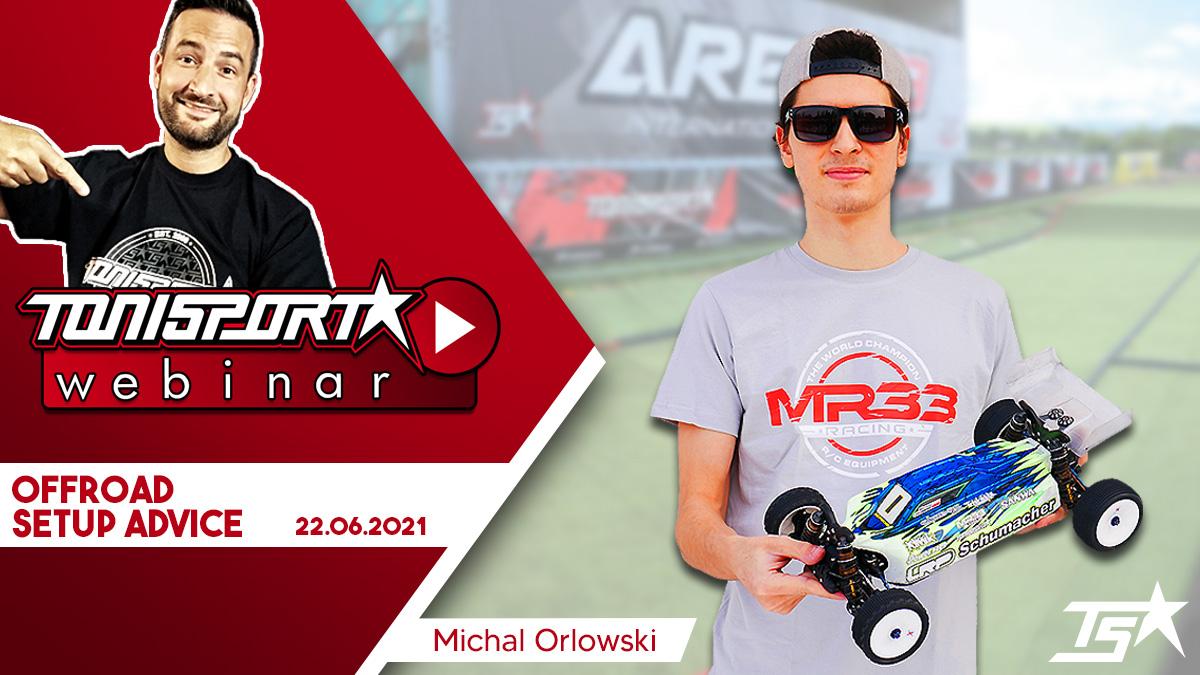 Ankündigung ToniSport Webinar Offroad Setup Advice mit Michal Orlowski