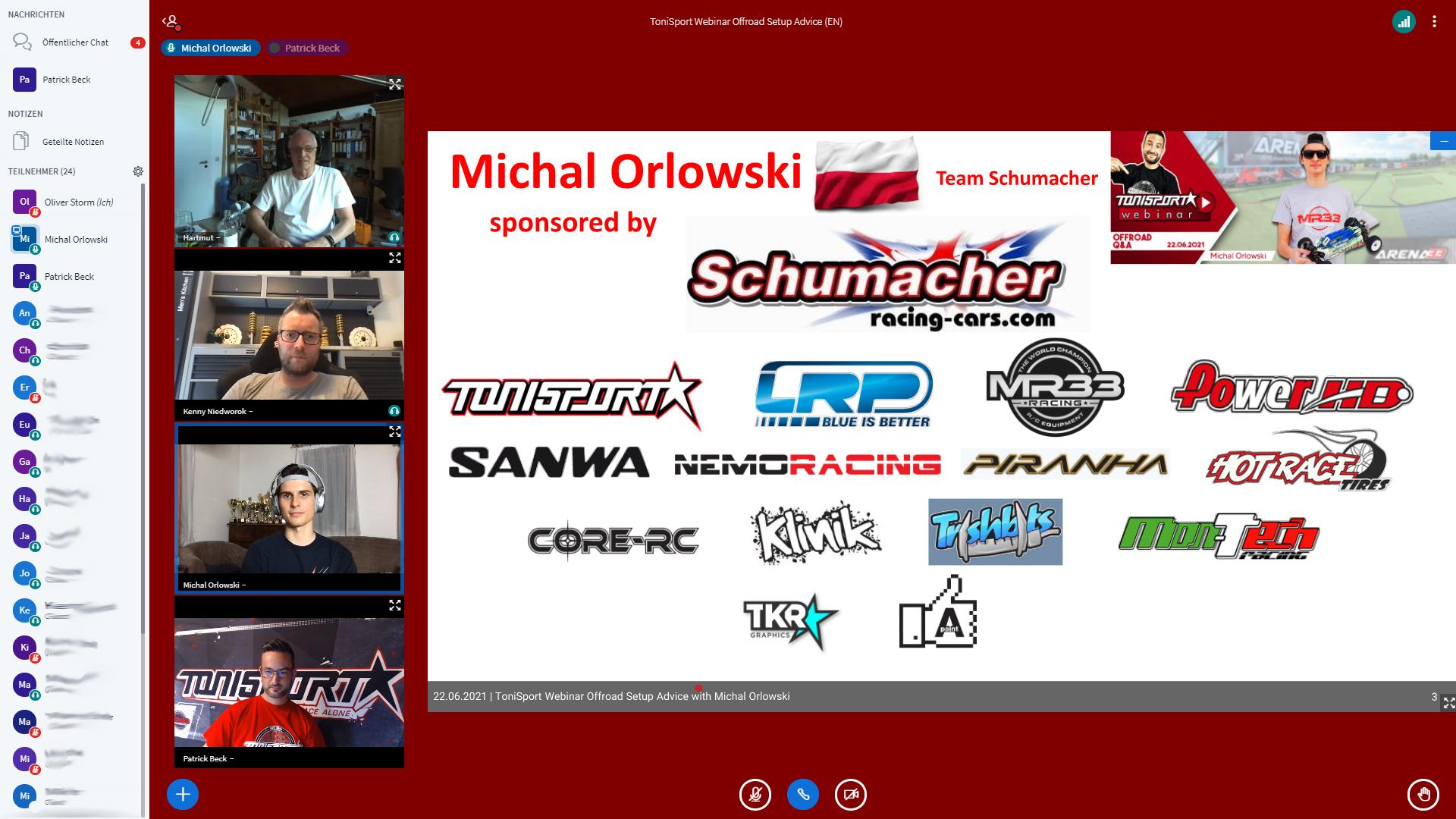 Zusammenfassung Tonisport Webinar: Offroad Setup Advice mit Michal Orlowski