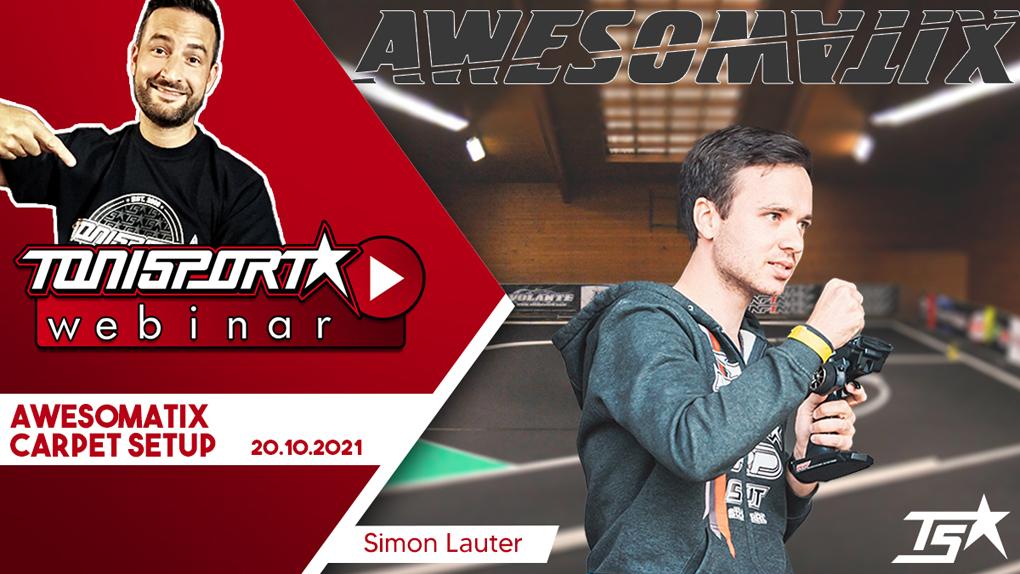 Ankündigung ToniSport Webinar Awesomatix Carpet Setup mit Simon Lauter
